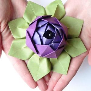 membuat-origami-bunga